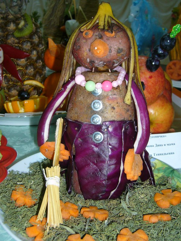 Лягушка из овощей поделка фото 30