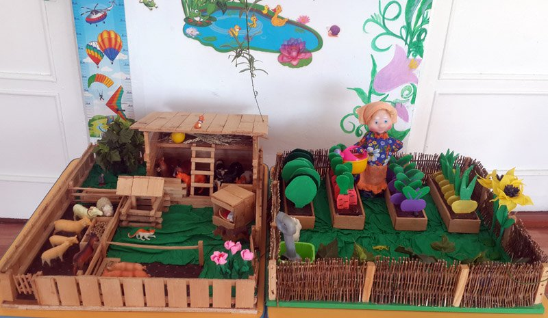 Как сделать игрушечный огород своими руками 33