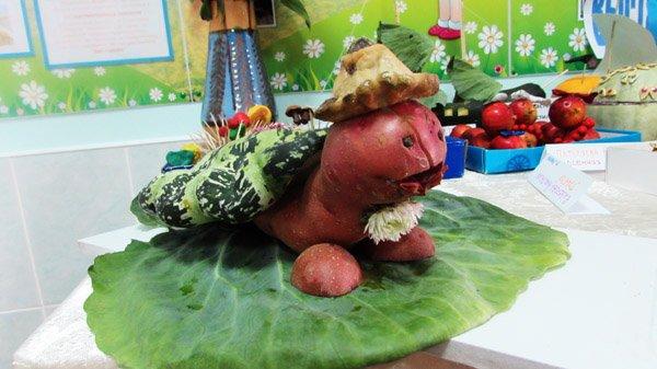 Выставка поделок из овощей легкие