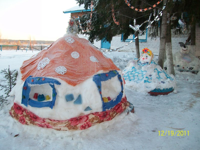 Снежные скульптуры  для детского сада 192