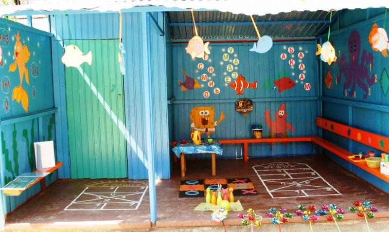Чем украсить веранду в детском саду своими руками летом