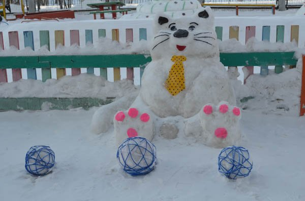 Зимние постройки своими руками для детского сада фото