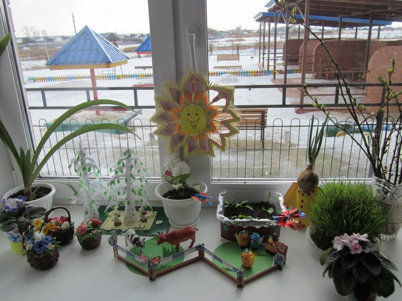 Проект огород на окне в детском саду.