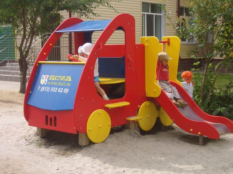 Детская площадка своими руками Трактор, вертолёт, пушка 35